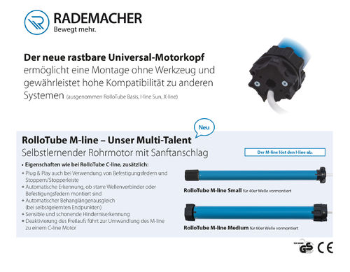 RADEMACHER RolloTube M-line Medium 30Nm MLIM 30/16PZ Rollladenmotor